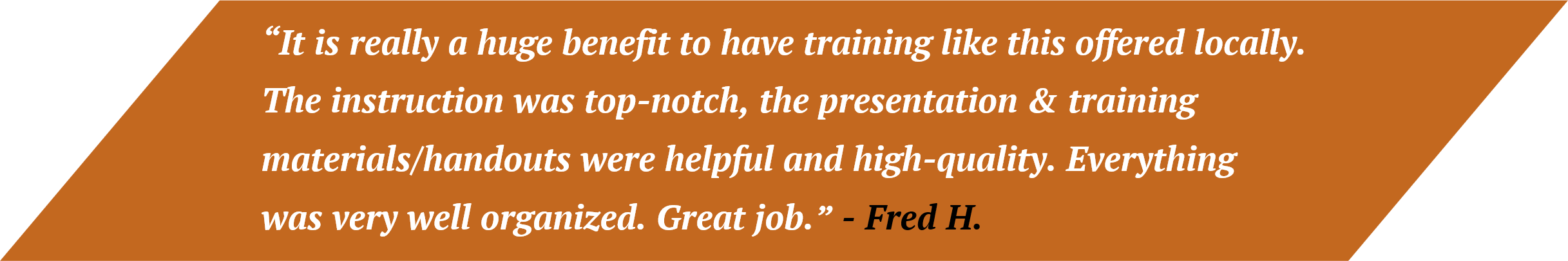 Fred Customer Quote